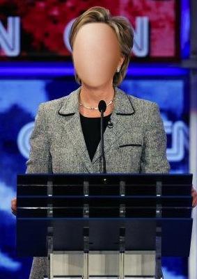 Faceless Hillary